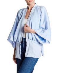 Roffe Accessories - Short Solid Kimono - Lyst