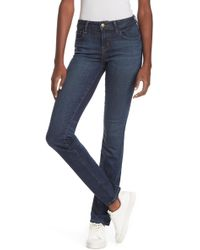 a99841cb98 Level 99 - Lily Mid Rise Straight Skinny Jeans - Lyst