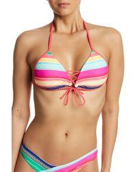 Body Glove - Joy Baby Love Lace-up Bikini Top - Lyst