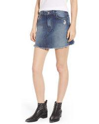 f9c6fae2ba4af Marc Jacobs Denim Miniskirt in Blue - Lyst