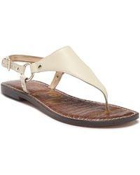 fc60c13d3dbd Lyst - Sam Edelman Grella Chain T-strap Sandal in Metallic