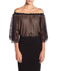 Kendall + Kylie - Lace 3/4 Sleeve Blouse - Lyst