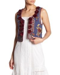 Love Sam - Mutianyu Embroidered & Pompom Vest - Lyst