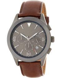MICHAEL Michael Kors - Gareth Chronograph Leather Strap Watch, 43mm - Lyst