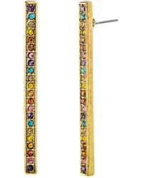 Steve Madden - Multi-colored Crystal Bar Earrings - Lyst