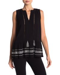 Cece by Cynthia Steffe - Sleeveless Embroidered Blouse - Lyst
