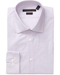John Varvatos   Patterned Slim Fit Dress Shirt   Lyst