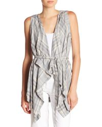 B Collection By Bobeau - Margot Waterfall Sleeveless Plaid Jacket - Lyst