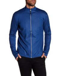 Robert Graham - Long Sleeve Stretch Zip Down Athletic Bomber Jacket - Lyst