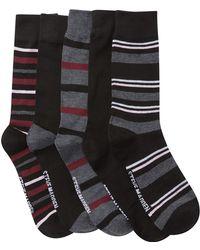 Steve Madden - Patterned Crew Socks Box Set - Pack Of 5 - Lyst