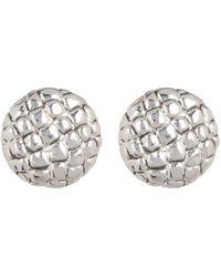 Simon Sebbag - Sterling Silver Croc Embossed Button Earrings - Lyst