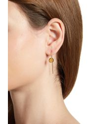 Botkier - Disc Front Chain Drop Threader Earrings - Lyst