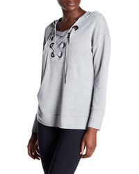 Cable & Gauge - Grommet Lace-up Hoodie - Lyst