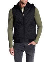 Indigo Star - Lance Quilted Hooded Vest - Lyst