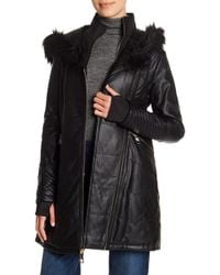 Guess - Layered Faux Leather Jacket - Lyst