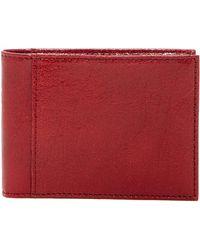 Bosca - Slim Bifold Leather Id Wallet - Lyst