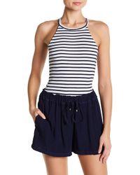 Splendid - Striped Sleeveless Racerback Bodysuit - Lyst