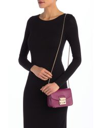 Furla - Metropolis Mini Leather Crossbody Bag - Lyst