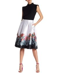 Ted Baker - Painted Posie Full Pleat Skirt - Lyst