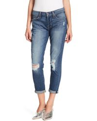 7 For All Mankind - Josefina Distressed Cropped Jeans - Lyst