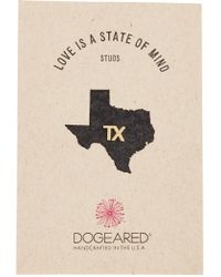 Dogeared - Love Is A State Of Mind Tx Single Stud Earring - Lyst