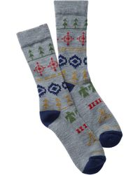 Pendleton - Fair Isle Wool Blend Camp Crew Socks - Lyst