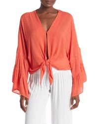 On The Road - Kinsley Bell Sleeve Blouse - Lyst