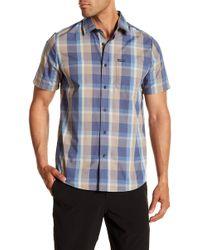 Volcom - Woodson Short Sleeve Plaid Print Modern Fit Woven Shirt - Lyst