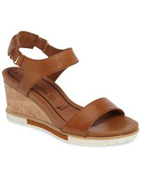 Tamaris - 'alis' Lug Sole Wedge Sandal (women) - Lyst