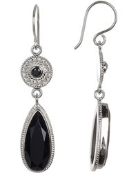 Anna Beck - Sterling Silver Black Onyx Drop Earrings - Lyst