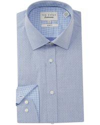Ted Baker - Endurance Slim Fit Herringbone Dress Shirt - Lyst