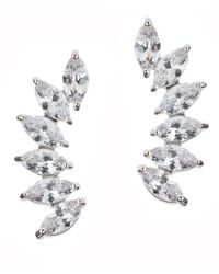 CZ by Kenneth Jay Lane - Marquise Curved Cz Earrings - Lyst