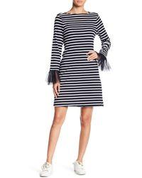 Beach Lunch Lounge - Striped Ruffle Cuff Shift Dress - Lyst
