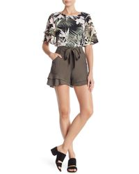 Cece by Cynthia Steffe - Tiered Ruffled Belted Shorts - Lyst