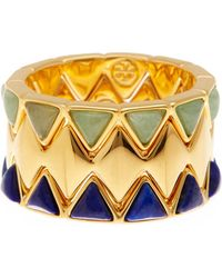 Tory Burch   Puzzle Stone Ring - Set Of 3   Lyst
