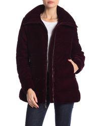 BCBGMAXAZRIA - Missy A-line Zip Front Velvet Jacket - Lyst