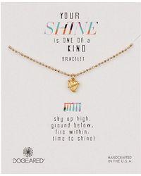 Dogeared - 14k Gold Vermeil Your Shine Wrapped Heart Bracelet - Lyst