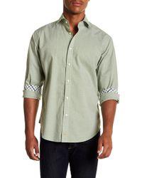 Thomas Dean - Chequered Long Sleeve Sport Fit Shirt - Lyst