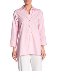Foxcroft - Daniela Long Sleeve Solid Blouse - Lyst