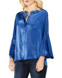Two By Vince Camuto - Bell Sleeve Satin Shirt - Lyst