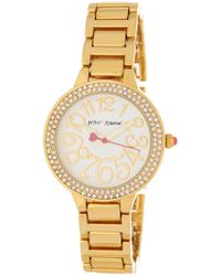 Betsey Johnson - Women's Crystal Embellished Bracelet Watch, 32mm - Lyst