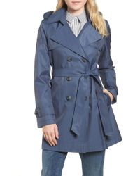 Halogen - (r) Detachable Hood Trench Coat (regular & Petite) - Lyst