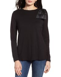Halogen - Bow Shoulder Ponte Top - Lyst