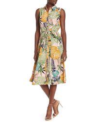 09252eaf27ff Nordstrom Rack. Eci - Sleeveless Leaf Print Dress - Lyst