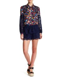 Anna Sui - Garden Rose Lace Short - Lyst