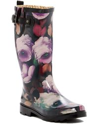 5dda656cfce8 Chooka - Tribute Floral Waterproof Rain Boot - Lyst
