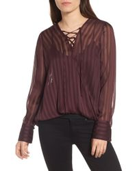Trouvé - Sheer Shadow Stripe Top - Lyst
