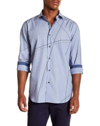 Bugatchi - Patterned Long Sleeve Classic Fit Shirt - Lyst