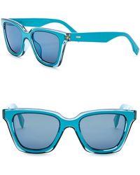 Fendi - 50mm Squared Sunglasses - Lyst