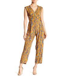 Angie - Open Back Floral Jumpsuit - Lyst